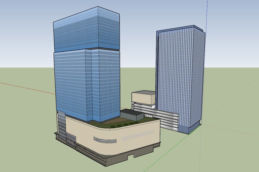 Umeda 3-chome PJ, 3D Model Comparsion, from .