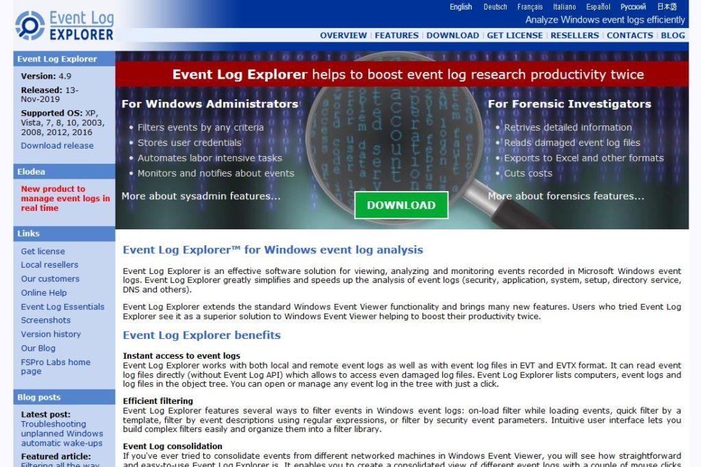 Event Log Explorer