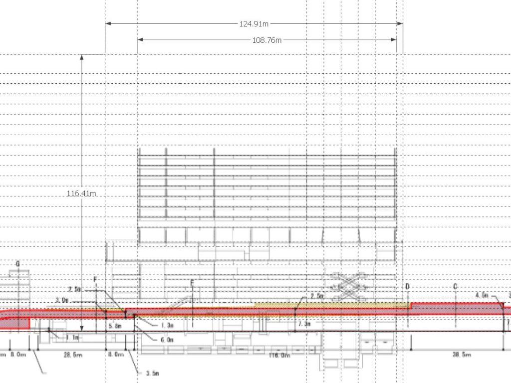 JR大阪駅 新駅ビル (仮称・西北ビル) の高さを検証