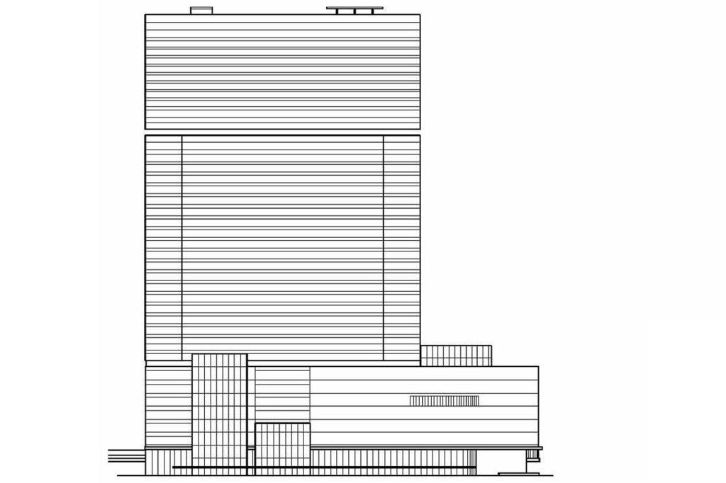 梅田三丁目計画・北側立面図