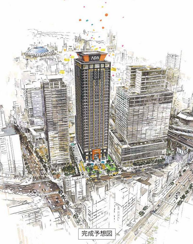 アパホテル&リゾート 難波駅前タワー 完成予想図