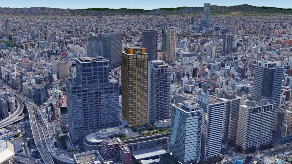 湊町地区地区開発 B地区とアパホテル&リゾート 難波駅前タワー
