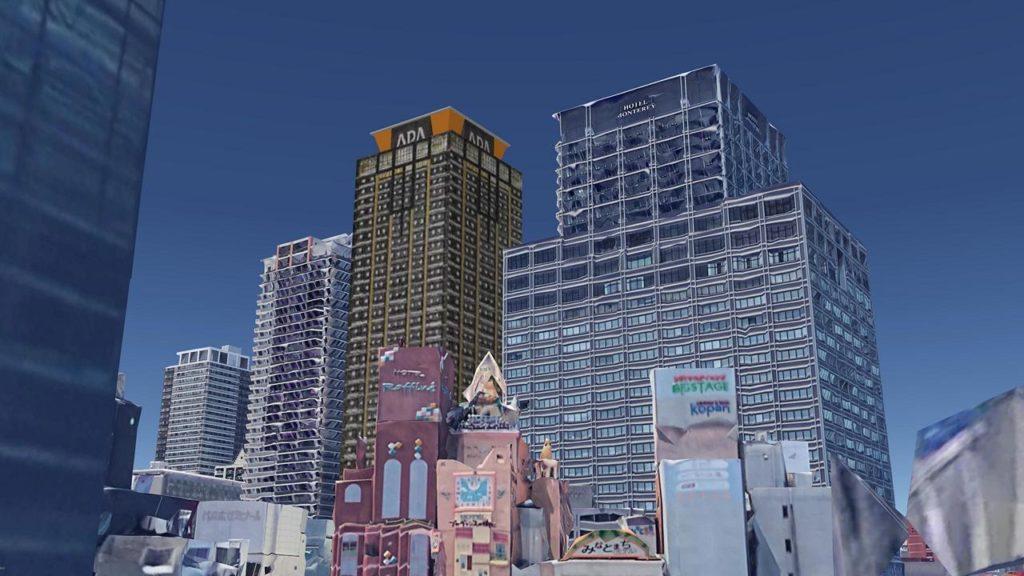 難波のホテル街とアパホテル&リゾート 難波駅前タワー