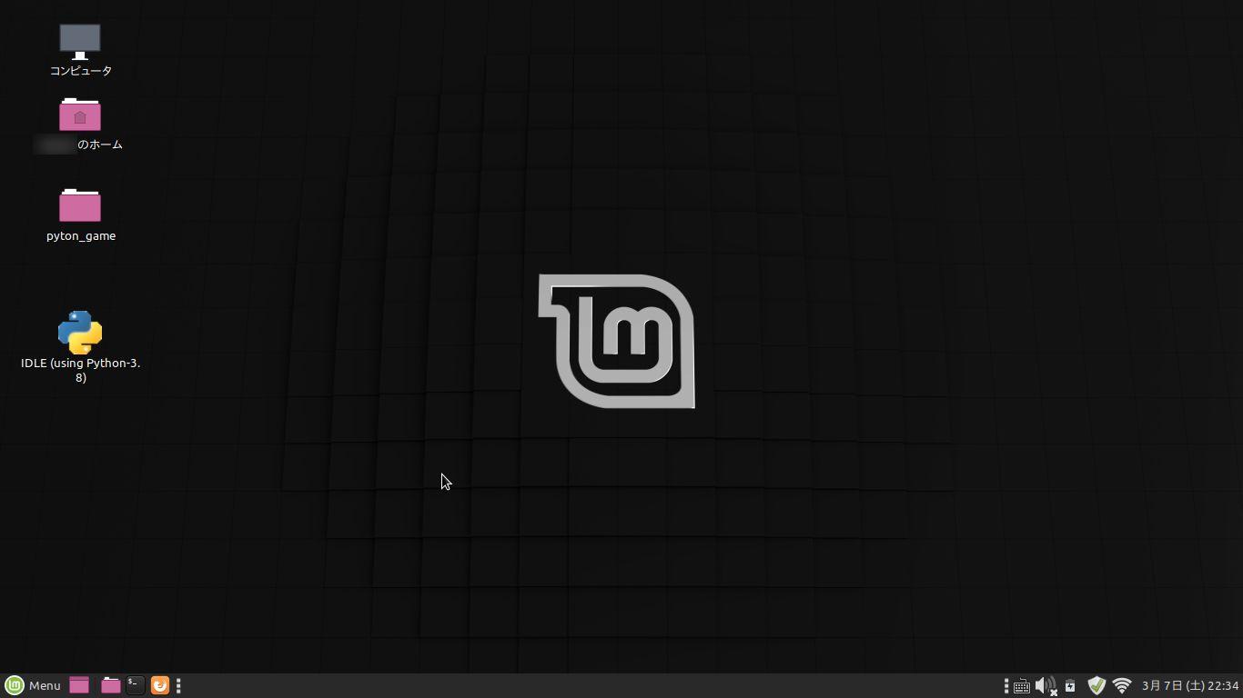 Linux Mint 19.3:ログインしたところ