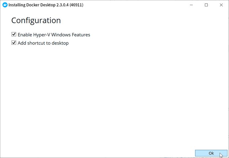 Docker Desktop for Windows のインストール