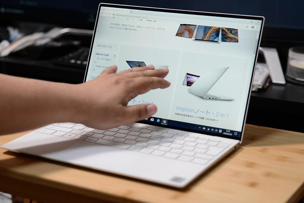 Dell XPS 13 (9300) UHD+ディスプレイはタッチ対応