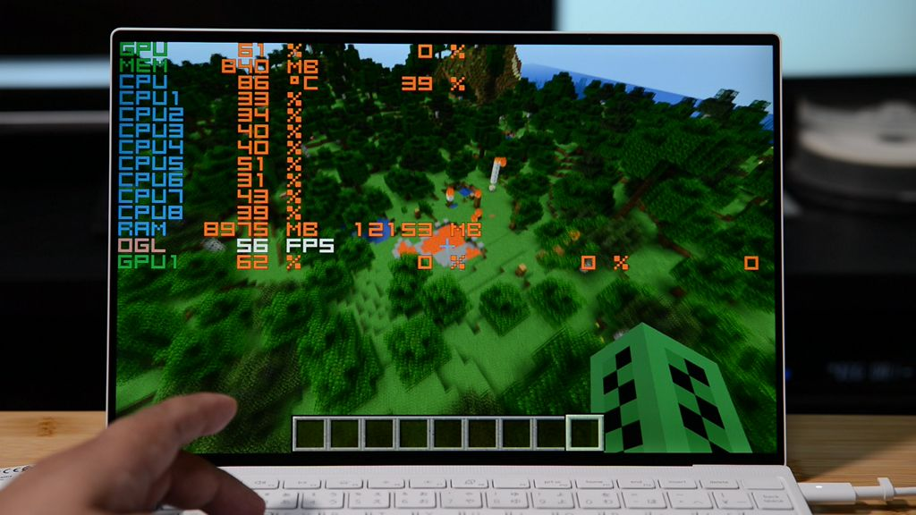 XPS 13 9300 で Minecraft (Java Edition)