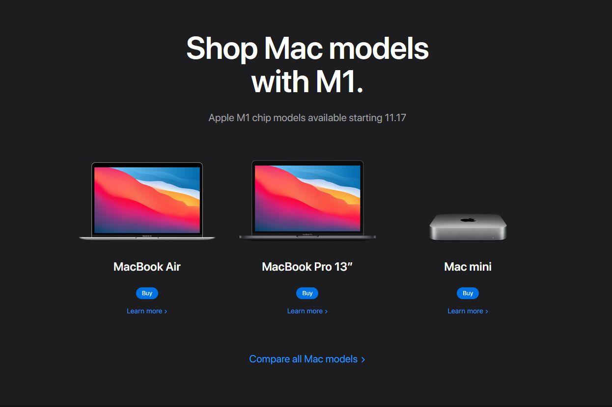 Apple M1 Mac models