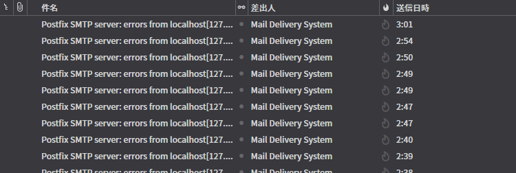Postfix SMTP server: errors from localhost